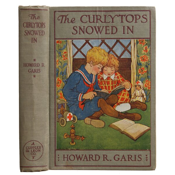 Authentic Decorative Books - Collectible Childrens 1918 The Curlytops Snowed In by Howard R. Garis by Booth & Williams