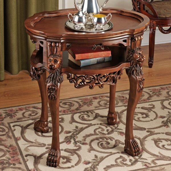 Lord Raffles Lion End Table by Design Toscano