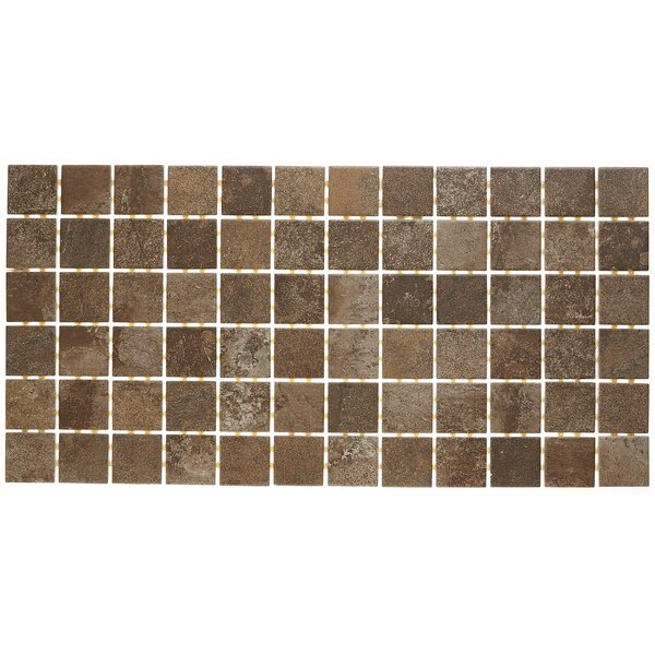 Slate Attaché 12 x 24 Porcelain Mosaic Tile in Multi Brown by Daltile