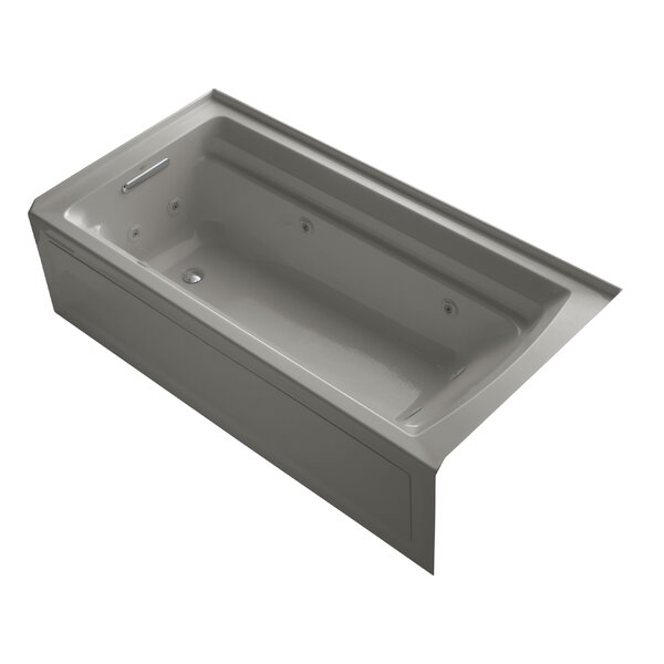 Archer 72 x 36 Alcove Whirlpool with Bask Heated Surface by Kohler