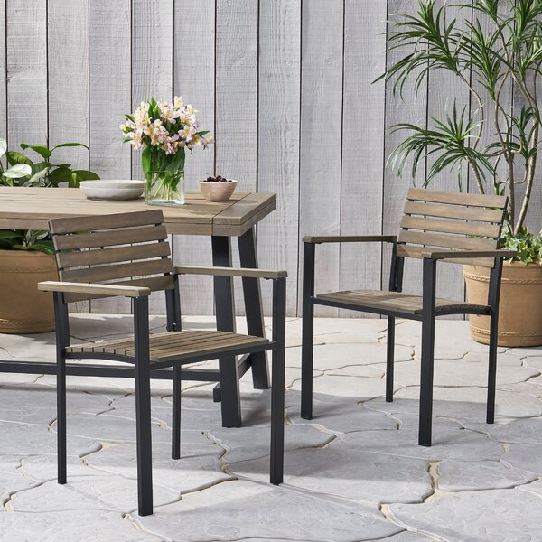Burlwood Patio Dining Chair (Set of 2) by Union Rustic