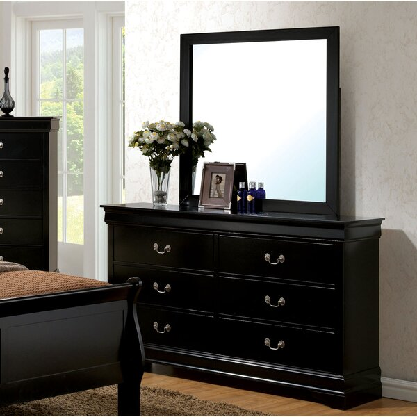 Alvarez 6 Drawer Double Dresser with Mirror by Darby Home Co