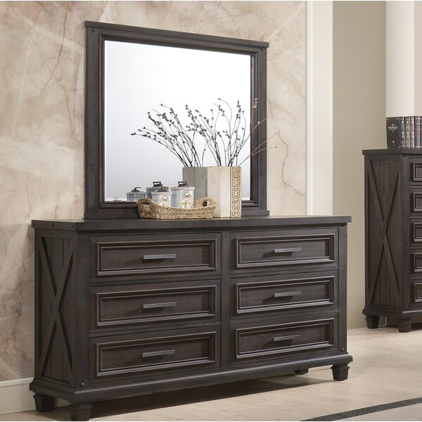 Cormac 6 Drawer Double Dresser with Mirror by Gracie Oaks