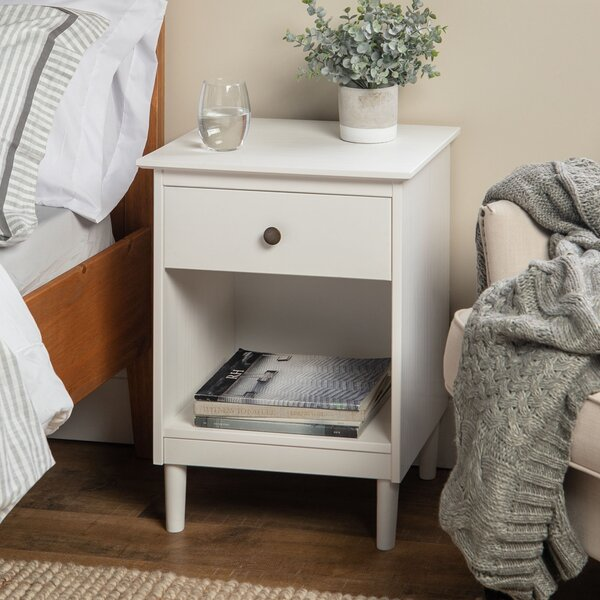 Lafever 1 Drawer Solid Wood Nightstand By Mercury Row