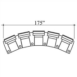 Showtime Home Theater Lounger Row Seating (Row Of 5) By Bass