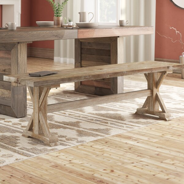 Annie Wood Bench by Laurel Foundry Modern Farmhouse