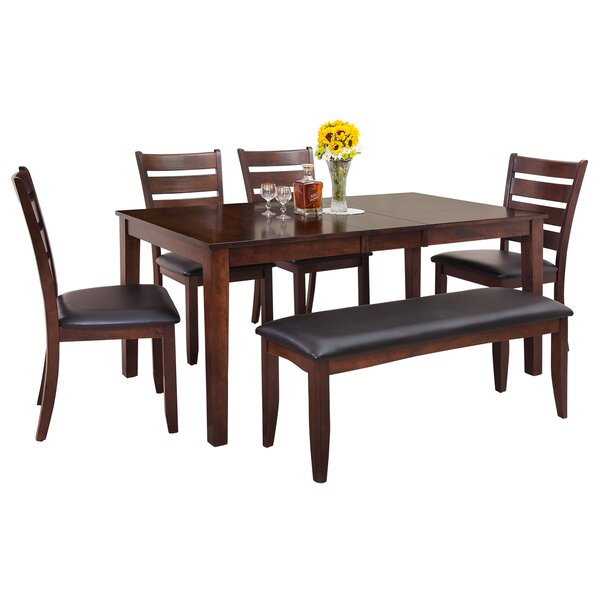 Downieville-Lawson-Dumont Modern 6 Piece Solid Wood Dining Set by Loon Peak