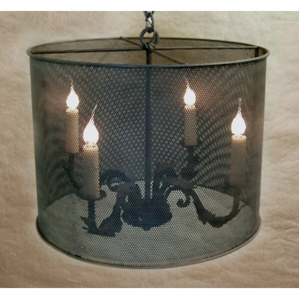 Godalming 4 - Light Candle Style Drum Chandelier By Bloomsbury Market