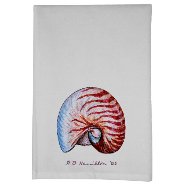 Coastal Nautilus Hand Towel (Set of 2) by Betsy Drake Interiors