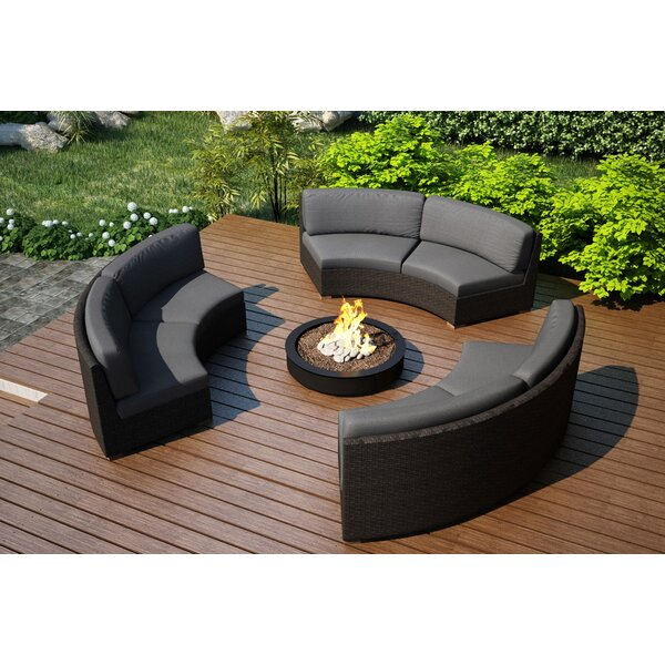 Hodge 3 Piece Sunbrella Sofa Set with Cushions by Rosecliff Heights
