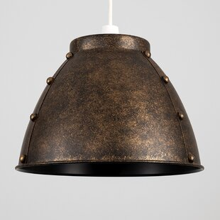 Bronze lampshade wayfair aviator domed 32cm metal bell pendant shade greentooth Choice Image