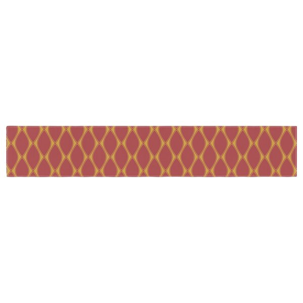 Nandita Singh Marsala and Mustard Pattern Table Runner by East Urban Home