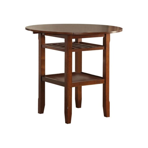Gennessee Counter Height Drop Leaf Dining Table by Gracie Oaks