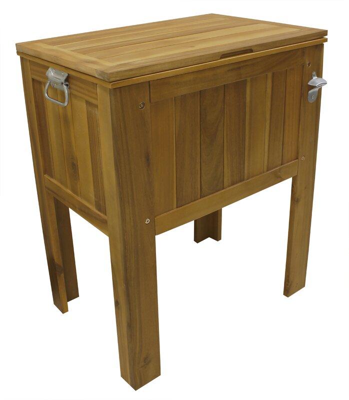 56 qt. Amber-Log Wooden Slat Country Cooler
