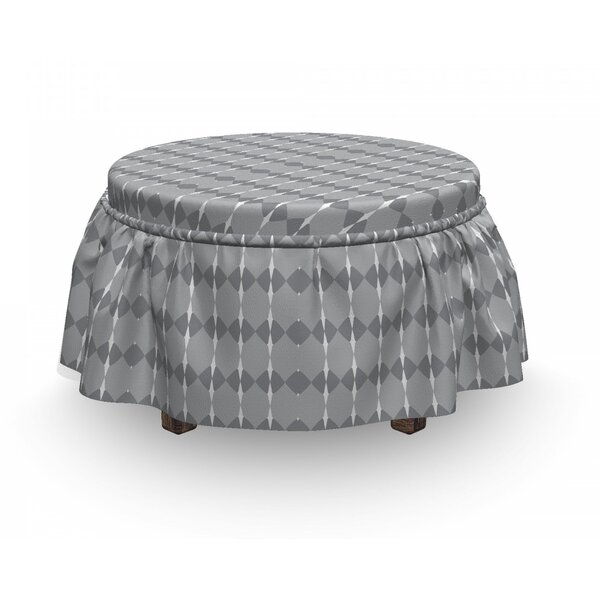 Repeating Motifs Ottoman Slipcover (Set Of 2) By East Urban Home