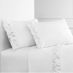 Quillen Double Ruffle 300 Thread Count Percale Sheet Set By One Allium Way