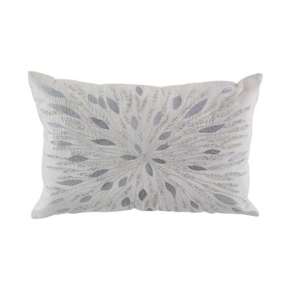 Almon Modern Metallic Embroidery Throw Pillow by House of Hampton