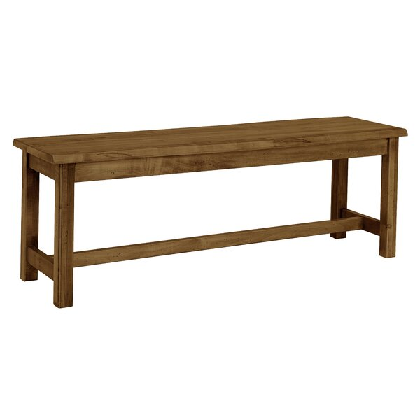 Rader Wood Bench with Live Edge by Gracie Oaks