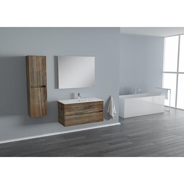 Carey 25 Wall-Mounted Single Bathroom Vanity Set with Mirror by Wrought Studio