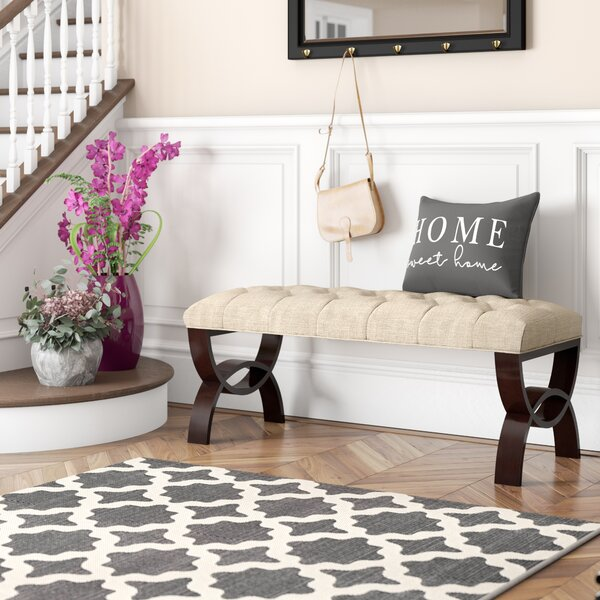 Hurwitz Upholstered Bench by Three Posts