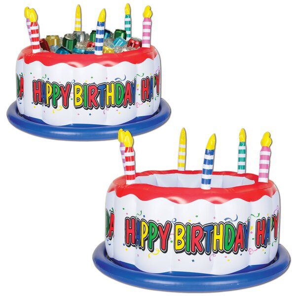 24 Can Inflatable Birthday Cake Cooler (Set of 6)