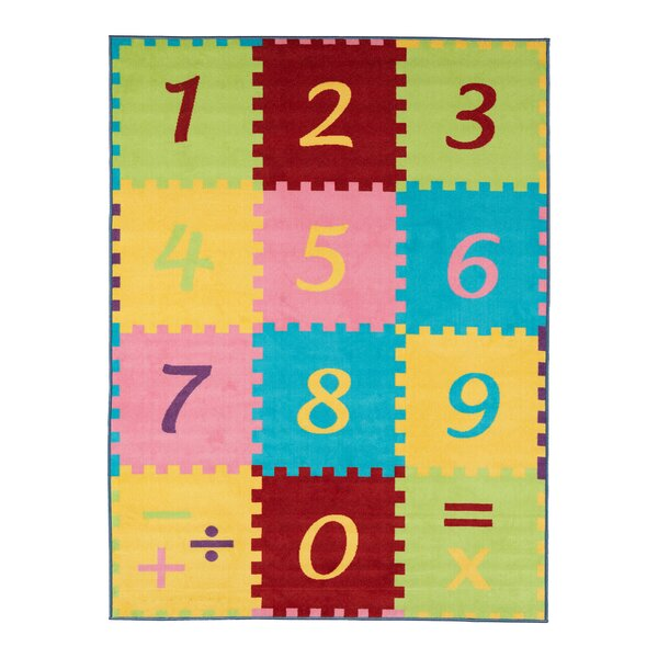 Malik Numbers Math Area Rug by Zoomie Kids