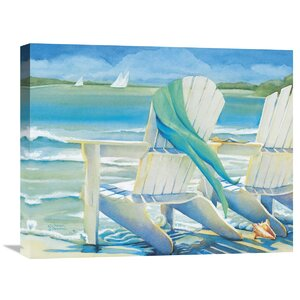 'Seaside Breeze' Painting Print on Wrapped Canvas by Beachcrest Home