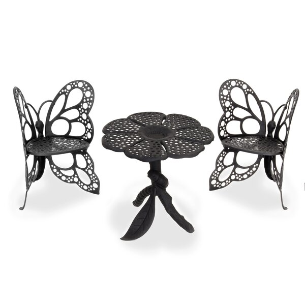 Butterfly 3 Piece Bistro Set by Flowerhouse