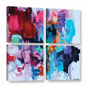 Taffy 4 Piece Painting Print on Wrapped Canvas Set by Latitude Run