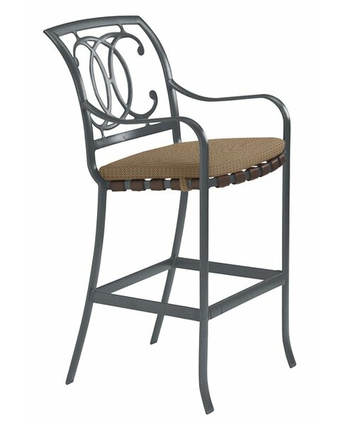 Palladian 32 Patio Bar Stool with Cushion (Set of 2) by Tropitone