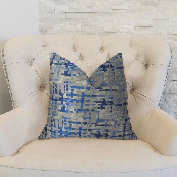 Abstract Plaid Lumbar Pillow by Plutus Brands