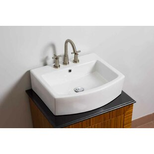 Shop For Ceramic Rectangular Bathroom Sink with Faucet and Overflow By American Imaginations