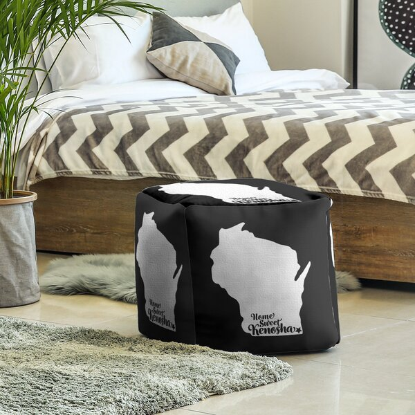 Kenosha Wisconsin Cube Ottoman by East Urban Home East Urban Home