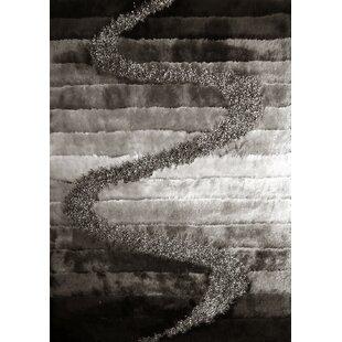 Online Reviews Minneiska Handmade Shag Gray/Silver/Black Area Rug ByLatitude Run