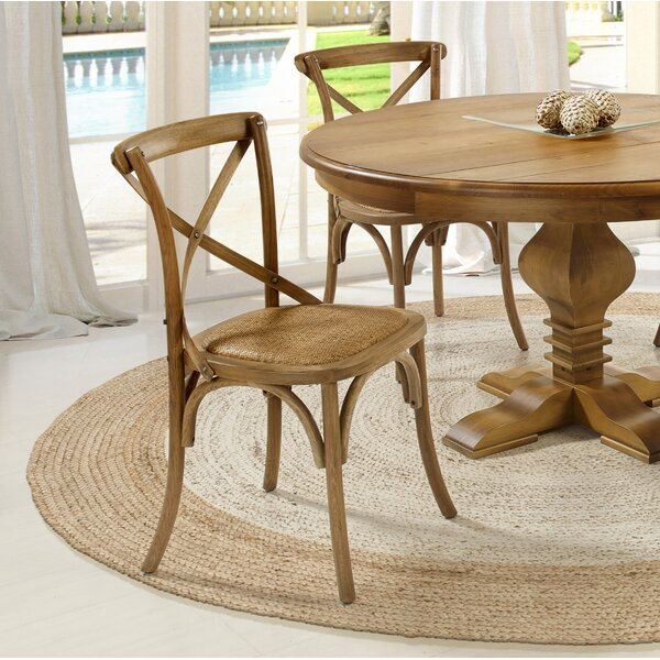 Sandoval Solid Wood Dining Chair (Set of 2) by Longshore Tides