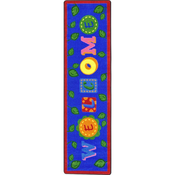 Alphabet Leaves Blue Area Rug by Joy Carpets