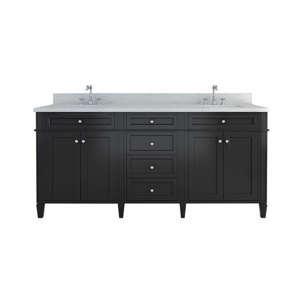 Nob Hill 72 Double Bathroom Vanity Set