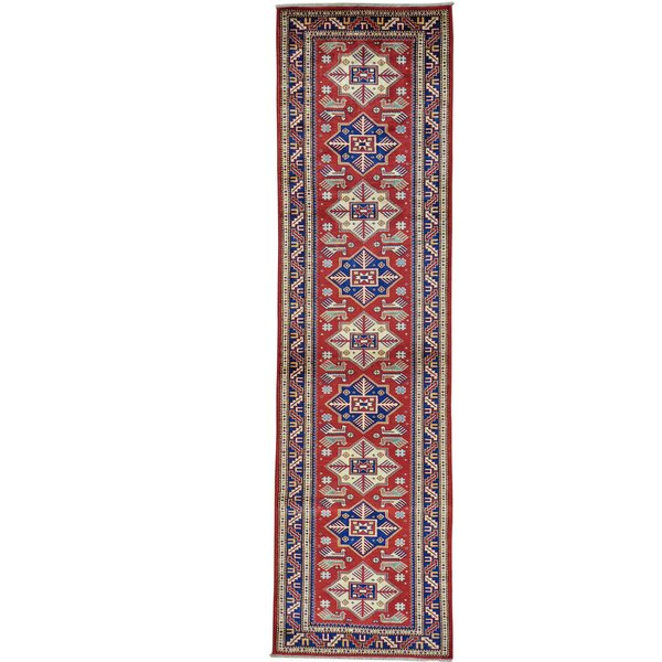 One-of-a-Kind Tillman Super Hand-Knotted Red Area Rug by Millwood Pines
