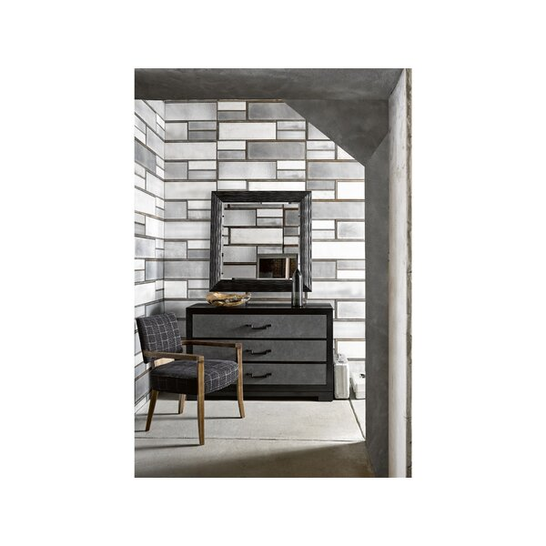 Esquire Mack 3 Drawer Dresser with Mirror by Fine Furniture Design
