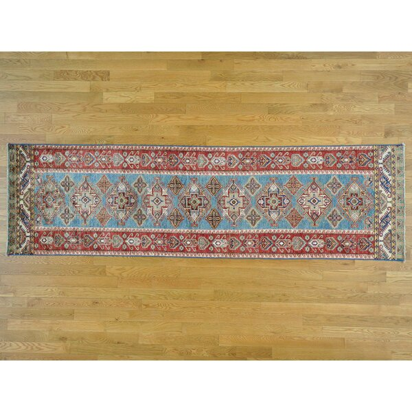 One-of-a-Kind Bechtold Hand-Knotted Blue Wool Area Rug by Isabelline