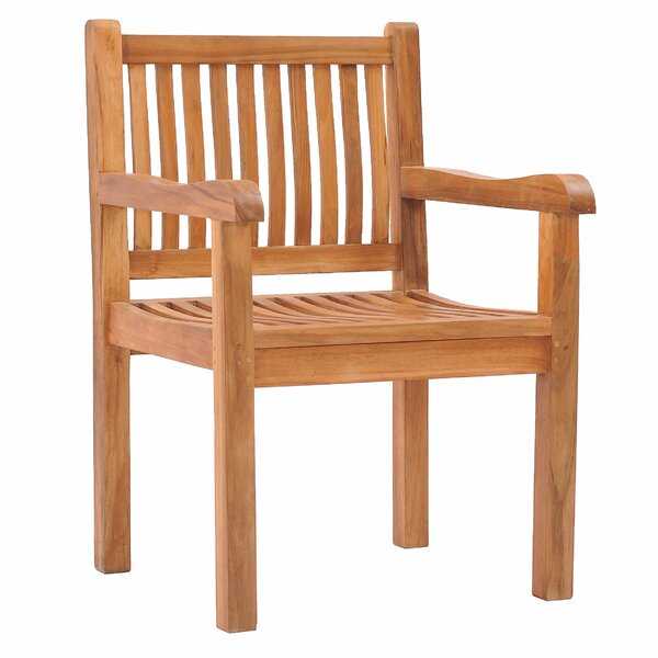 Quinlan Teak Patio Dining Chair by Darby Home Co Darby Home Co