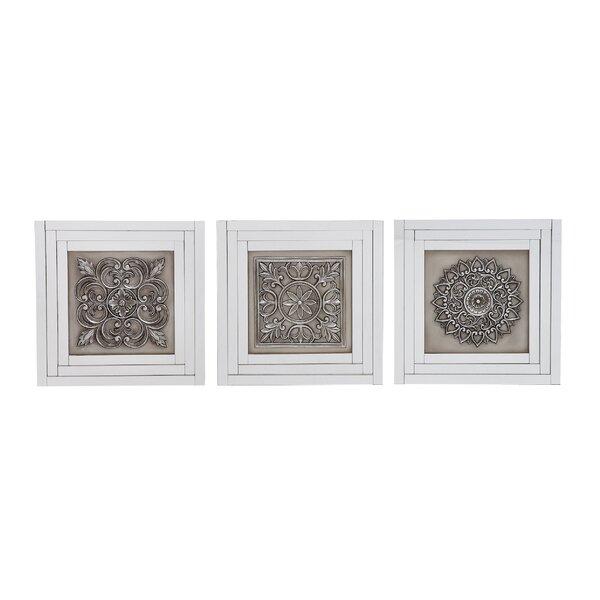 Elegant Styled Gray Metal Wall Art Set (Set of 3) by One Allium Way
