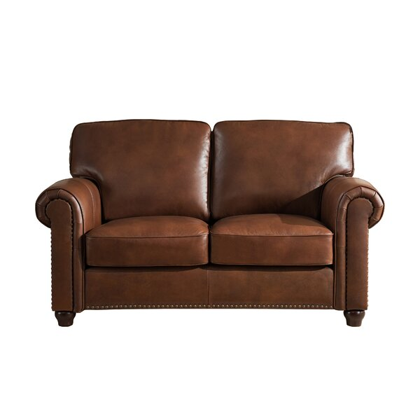 Tawanda Craft Leather Loveseat by Three Posts