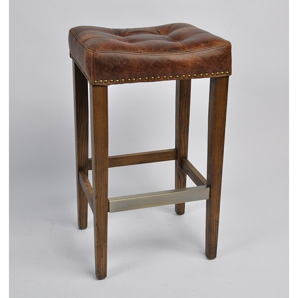 Cosentino Leather 25 Bar Stool by Darby Home Co