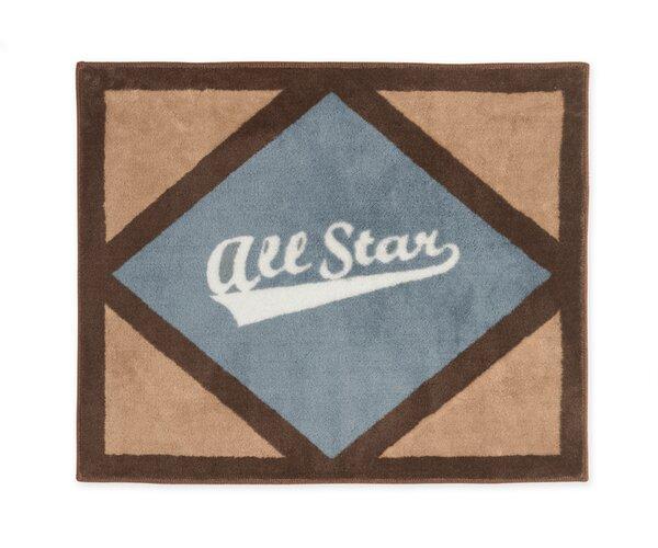 All Star Sports Floor Brown/Gray Area Rug by Sweet Jojo Designs