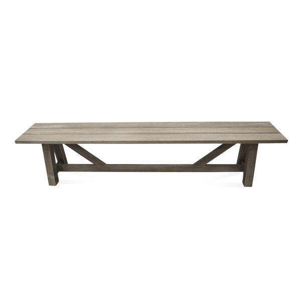 Earnest Wooden Picnic Bench by Rosecliff Heights