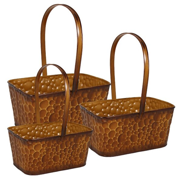 3-Piece Wood Pot Planter Set by ESSENTIAL DÉCOR & BEYOND, INC