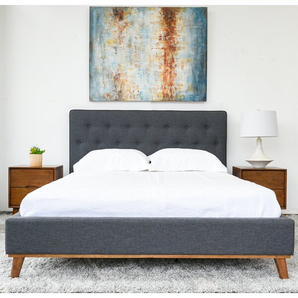 Aaliyah Tufted Solid Wood And Upholstered Platform Bed By Corrigan Studio