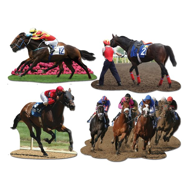 4 Piece Horse Racing Standup Set (Set of 3) by The Beistle Company