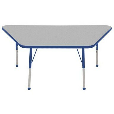 Trapezoid Thermo-Fused Adjustable 30 x 60 Trapezoidal Activity Table by ECR4kids
